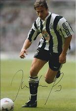 David GINOLA SIGNED COA Autograph 12x8 Photo AFTAL In Person Newcastle United