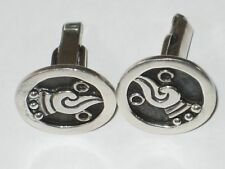 Vintage Francisco Rivera Emma TAXCO Mexican Sterling Silver CUFFLINKS Free Ship