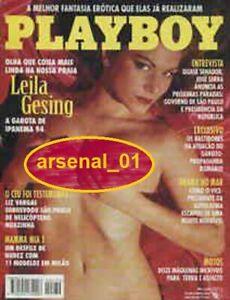 PLAYBOY MAGAZINE BRAZIL  # 230 - LEILA GESING - SEP 1994 - EXC  SEXY NICOLE WOOD