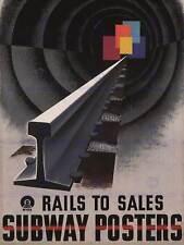 Pubblicità binario SUBWAY tunnel USA grandi poster art print bb2163a