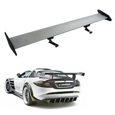 "2018 110cm 43.3"" Universal Aluminum Rear Car AUTO GT Wing Racing Spoiler Silver"