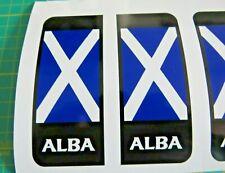 ALBA Scotland Scottish Flag Number Plate Badge Exterior Vinyl Sticker Car Decal