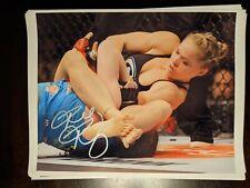 UFC Signed Auto Ronda Rousey Autograph Photo MMA 8x10 with Coa