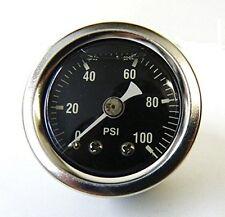"Mid-USA 100 PSI Oil Pressure Gauge 1/8"" NPT Fitting Motorcycle (88004)"