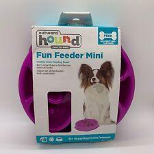 Outward Hound-Fun Feeder Mini Healthy Slow-Feeding Dog Bowl, brand new