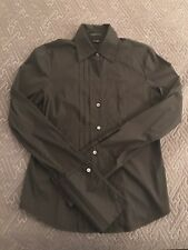 THEORY Shirt Black Long Sleeve Button Cotton Women SMALL S