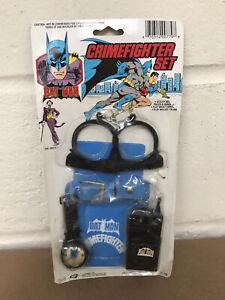 VINTAGE RETRO 1988 DC COMICS BATMAN CRIMEFIGHTER SET NEW ON DAMAGED CARD