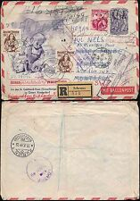 AUSTRIA 1949 STATIONERY BALLOON POST REGISTERED + UPRATED SWISS REDIRECTED GB