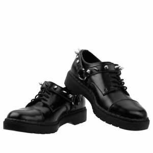 T.U.K. Black Harness Argyl Derby Shoe UK Size 7 EU 40 US 9 Gothic  Rock TUK
