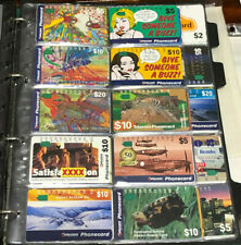 PHONECARDS:  COLLECTABLE USED BULK LOT 250+ PHONECARDS