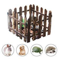 Pet Playpen Fence Gate Turtle Wooden Rabbit Tortoise 4pcs Indoor Outdoor