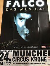 FALCO - MUSICAL  2017 MÜNCHEN + orig.Concert Poster - Konzert Plakat 168x118 cm