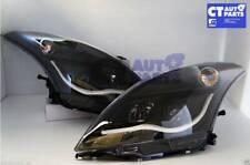 Black LED DRL Angel Eye Projector Headlights for 11-16 Suzuki Swift FZ GA GLX GL