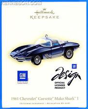1961 Chevrolet Corvette Mako Shark I GM Die-Cast Metal Hallmark Ornament 2007
