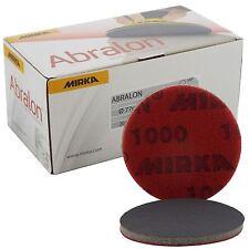 "Mirka Abralon 77 mm 3"" P1000 Grit 20x hooknloop Schiuma Pad Dischi di finitura fine"