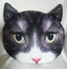 """LARGE CAT FACE PILLOW CUSHIONS ZIPPER CLOSURE REMOVABLE FOR WASHING Approx 16"""""""