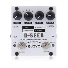 JOYO D-SEED DIGITAL / MOD / ANALOG / REVERSE Delay Pedal White+Free Ship