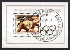Germany / DDR - 1980 Olympic games Lake Placid - Mi. Bl. 57 FU