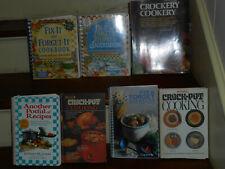 LOT OF 7 BEST VINTAGE CROCK POT CROCKERY SLOW COOKER MAKE AHEAD MEALS COOK BOOKS