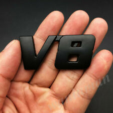 Metal Black V8 Vntage Car Auto Trunk Tailgate Rear Emblem Badge Decal Stickers