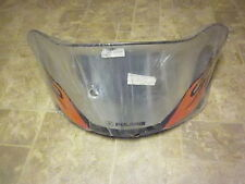 "Polaris Edge 12.5"" chorme flame graphic windshield new 2874137"