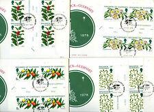 Guernsey 1979 Christmas Gutter Pairs Blocks FDC Set #C38714