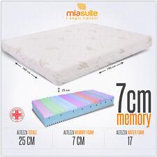 MATERASSO MATRIMONIALE MEMORY 160X190 MEMORY FOAM 7 CM SFODERABILE PREMIUM PLUS