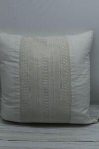 "Ralph Lauren Home Devon Crocket 18"" Square Decorative Throw Pillow Cream $170 NW"
