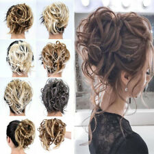 Large Thick Curly Messy Bun Hair Piece Scrunchie Hair Extensions Real As Human