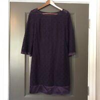 Laundry By Shelli Segal Dress Size 8 Purple Lace