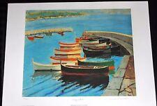 "Sir Winston Churchill ""A Study of Boats"" Facsimile signed nautical image"