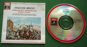 Malcolm Arnold Symphonies Nos. 2 & 5 / Peterloo Overture BSO / CBSO CD