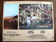 ROBERT REDFORD MERYL STREEP PHOTO EXPLOITATION LOBBY CARD OUT OF AFRICA