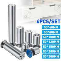 4 x Stainless Steel Feet Plinth Legs Sofa Beds Cupboard Cabinets Furniture Stand