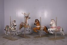 Carousel Horse White Life Size  Statue Figurine Display Prop