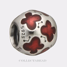 Authentic Pandora Silver Rosy Red Enamel Butterfly Bead 790438EN07 *SPECIAL!!!