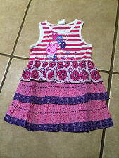 NWT 3pc Lot Girls Size 4-5 4T 5T Peppa Pig Short Set, Dress & 2pc  Pajama Set