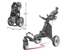 CaddyTek CaddyLite Dark Gray Swivel Front Wheel  Golf Push Cart Version 8