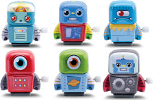 SCHYLLING WIND-UP MINI TIN ROBOTS - MTRA WALKING CLOCKWORK TOY FIGURES METAL