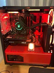 GAMING PC,W10PRO,CERBERUS 1050ti GPU,i3-9100f,RC Lighting system,Liquid cooled