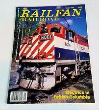 Railfan & Railroad Magazine May 1988 Electrics in British Columbia