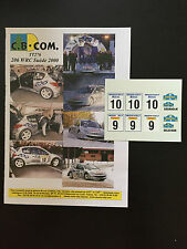 DECALS 1/24 PEUGEOT 206 WRC DELECOUR RALLYE SUEDE SWEDISH 2000 RALLY