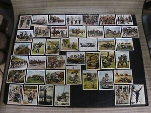 1936 GERMAN WW2 ARMY WEHRMACHT BOOT CAMP RECRUITS MG 40 MILITARY CIGARETTE CARDS