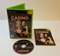 High Rollers Casino (Microsoft Xbox, 2004) cib complete with manual
