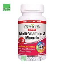 Natures Aid Multi-vitaminas y minerales antioxidantes fórmula 90 comprimidos