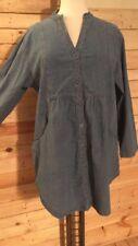 *La Bass* Jeans-Bluse/Jacke, Denim, blau, Gr 50-52 (3), Stehbund, 1/1-Arm