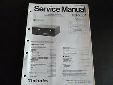 ORIGINALI service manual TECHNICS Cassette Deck RS-X 301