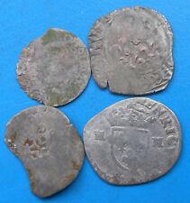 LOT de 4 monnaies royales féodales argent / billon différentes PETIT PRIX (B10)
