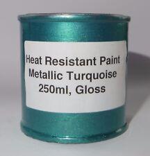 250ml TURQUOISE METALLIC Gloss Heat Resistant Paint Engine Caliper Brake Car