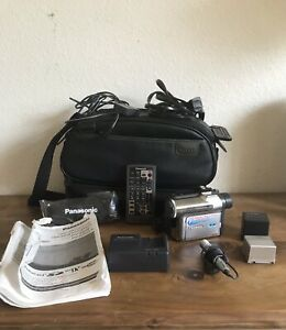 Panasonic Palmcorder MultiCam PV-GS50D Camcorder Bundle TESTED SEE DESCRIPTION